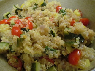 Quinoa and Summer Squash Pilaf