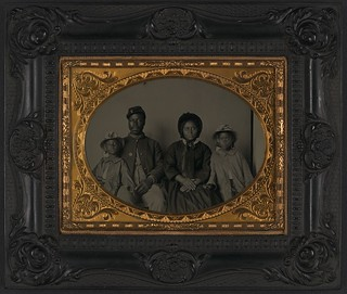 [Unidentified African American soldier in Union uniform with wife and two daughters] (LOC) | by The Library of Congress