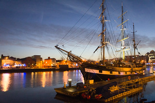 "Dublin At Night - ""A Tall Ship and a Star To Steer Her By"" 
