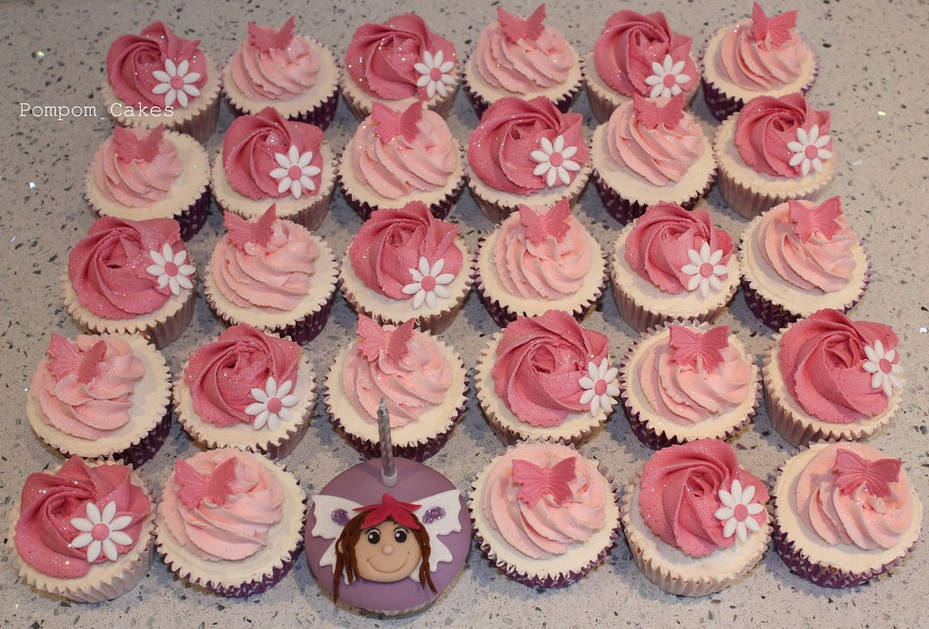 Pink cupcakes with fairy cupcake cupcakes with a special for How to make fairy cupcakes