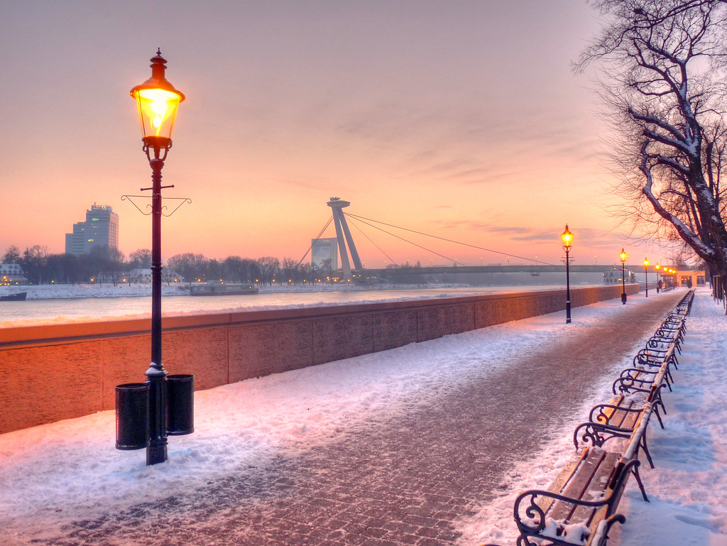 bratislava winter scene this one was taken on a