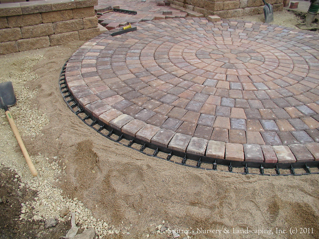 Paver Patio Front Entry Interlocking Paver Edge Restrain