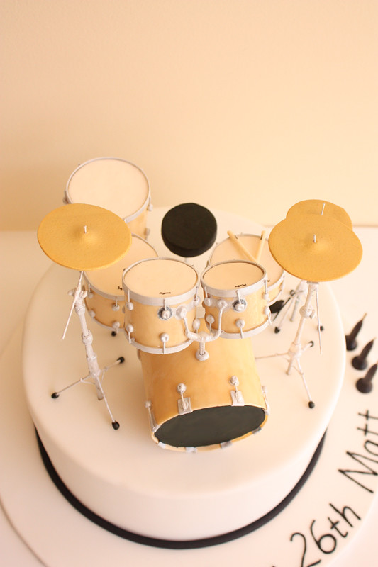 Drum Kit Birthday Cake Above