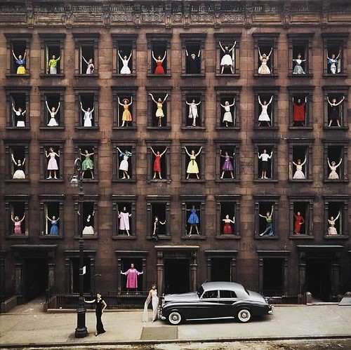Girls In The Windows, photo by Ormond Gigli, 1960 | by skorver1