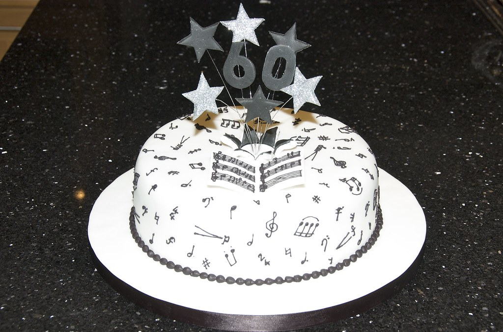 Music Cake 60th Birthday Cake With A Music Theme