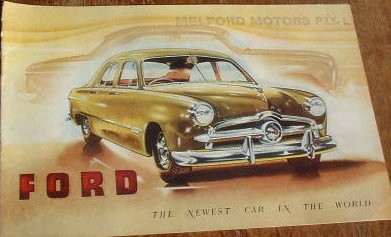 1949 Ford Single Spinner Brochure Australia Covers The
