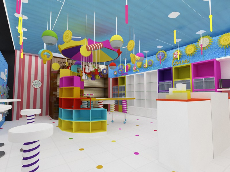 Tienda de dulces y regalos dise o de tiendas concepto - Regalos de muebles gratis ...