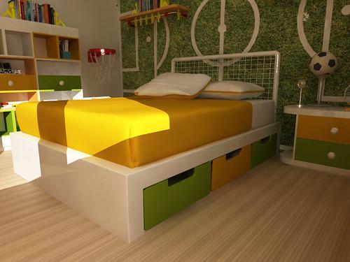 Mobiliario de ni os cama matrimonial para ni o flickr for Camas para chicos