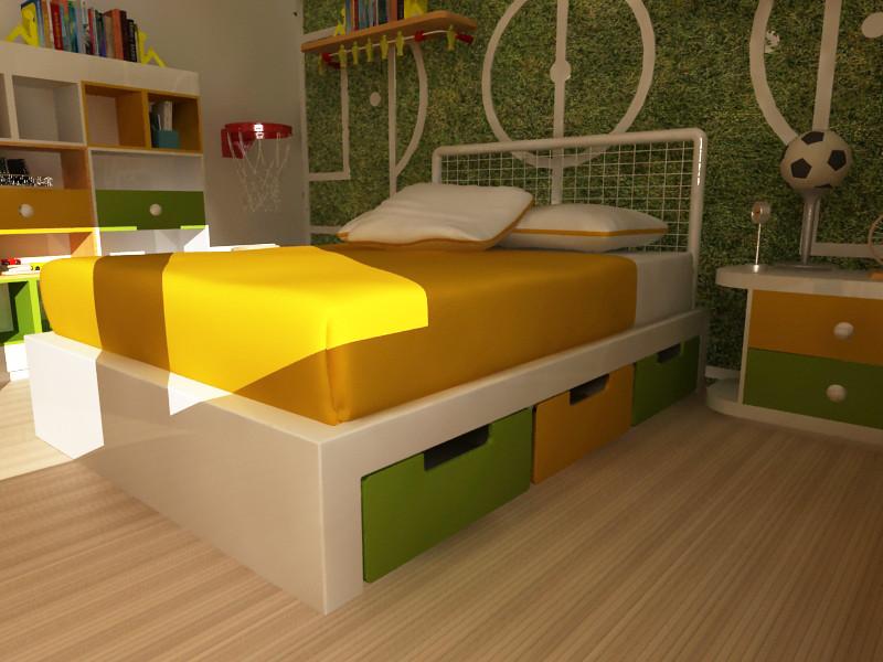 Mobiliario de ni os cama matrimonial para ni o dise o - Cama coche para ninos ...