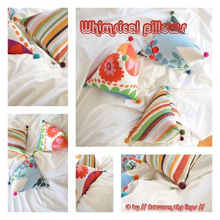 Whimsical pillows :: a tutorial | by // Between the Lines //
