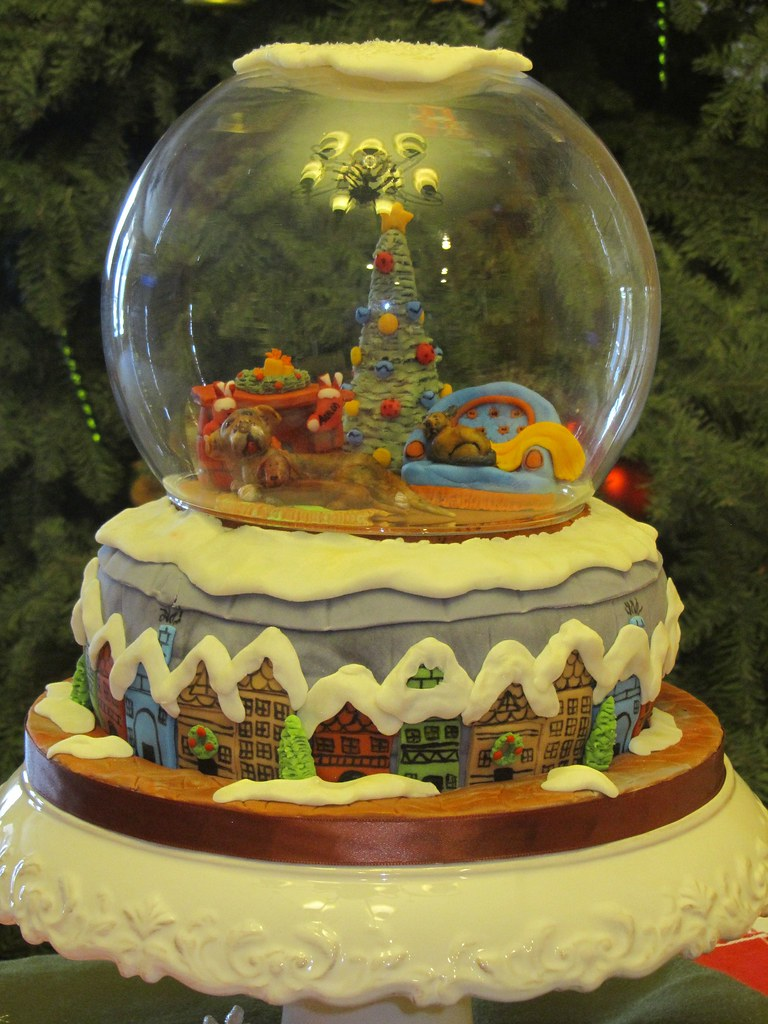 christmas snow globe cake im so proud of this cake if