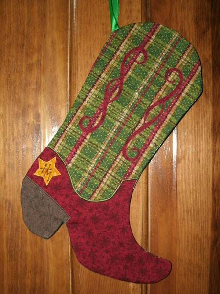 Cowboy Boot Stocking This Photo Was Sent To Us By Bobbie