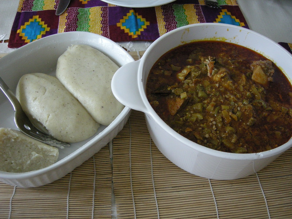 banku and fetri (okro stew) | Some of my favorite comfort ...