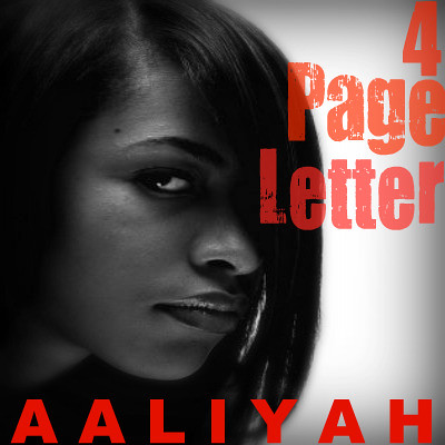 4 page letter 4 page letter aaliyah single cover i made for 4 page 52074