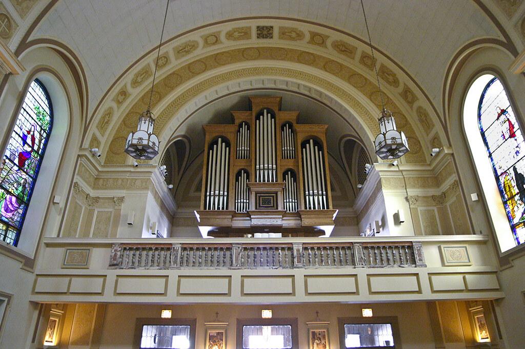 Choir Loft Organ And Marble Communion Rail From St Fran