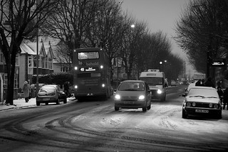 New Church Road, Hove in snow | by Alan MacKenzie