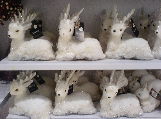 White Deer Christmas Decorations For Sale In Primark