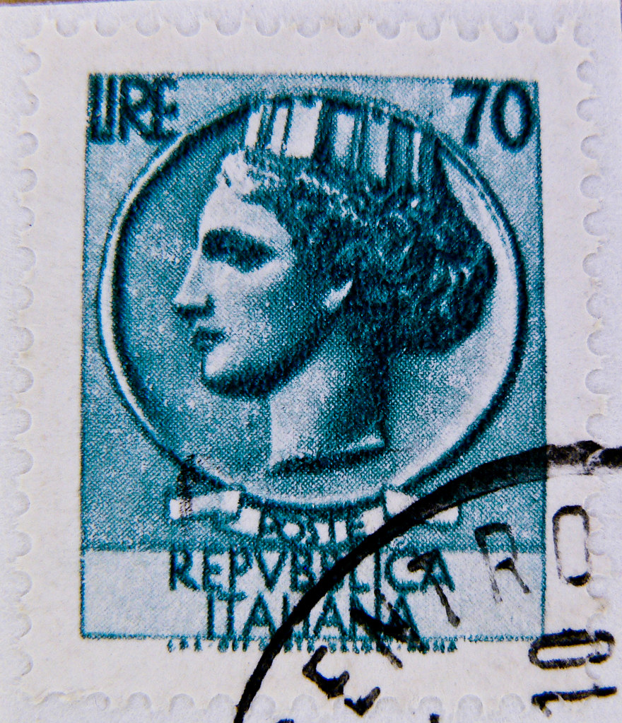 Beautiful italian stamp 70 lire poste italiane turrita 70 for Poste italiane