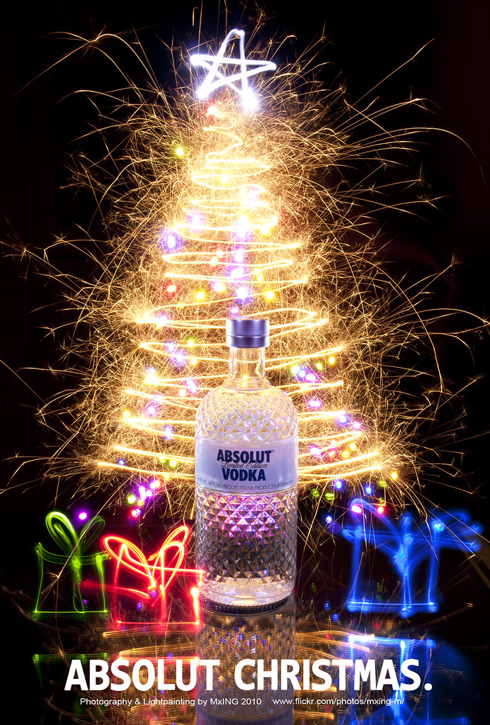 absolut christmas lightpainting process 2 wwwflickr