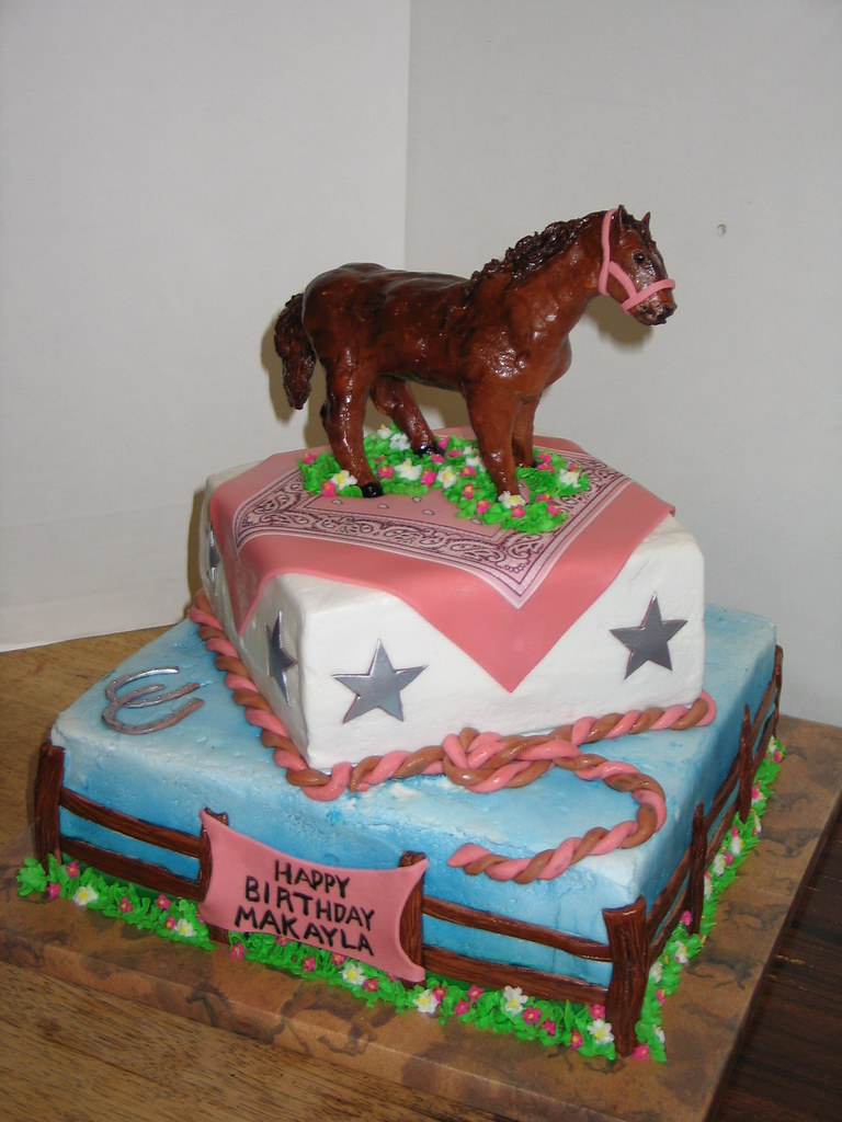 Birthday Cake Design Horse : Horse Themed Birthday Cake The horse was sculpted from ...