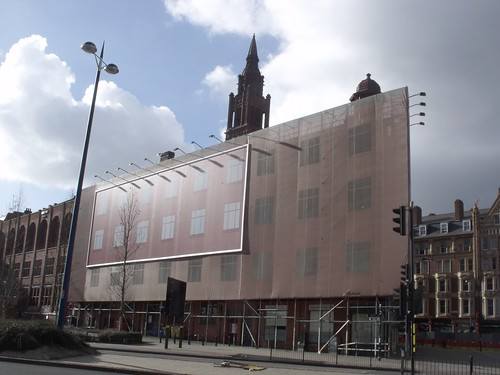Methodist Central Hall - Dalton Street - scaffolding and billboard | by ell brown