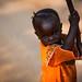 Lendu child playing with wood - DR Congo