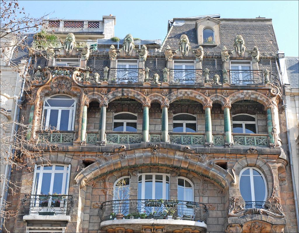 Immeuble art nouveau de jules lavirotte paris partie - Art nouveau architecture de barcelone revisitee ...