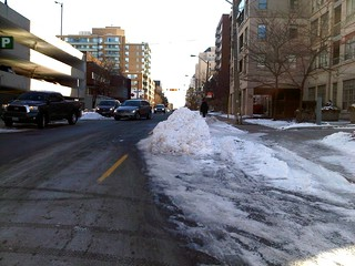 Toronto snow bump-out traffic calming measure | by James D. Schwartz