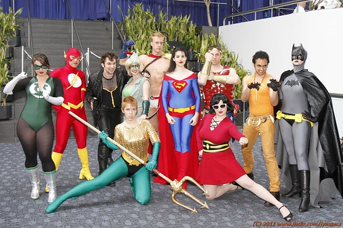 The whole merry genderbent Justice League - indoors ( explore ) | by LynxPics
