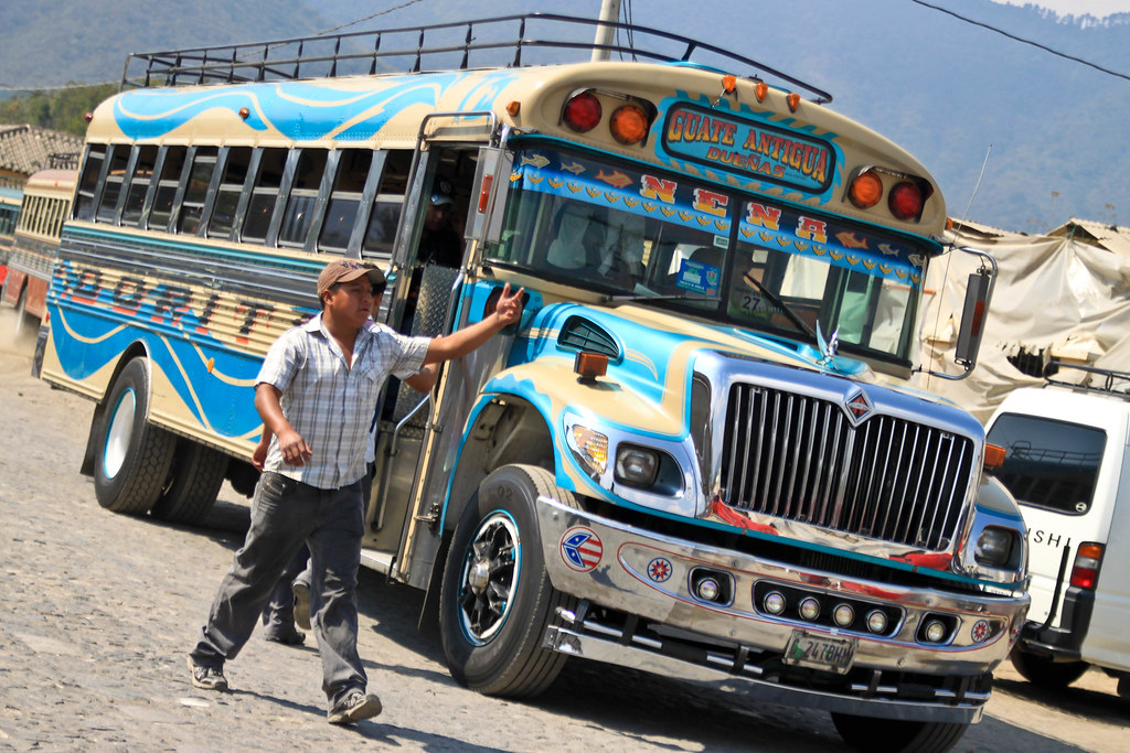 Chicken Bus - Antigua, Guatemala | A Chicken Bus is the ...
