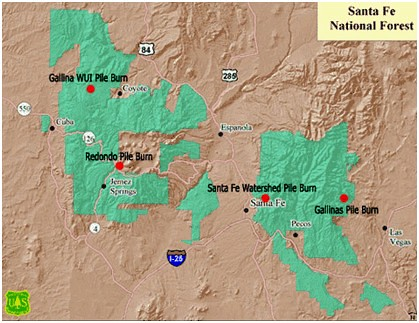 Santa Fe National Forest Prescribe Fire Locations  Flickr