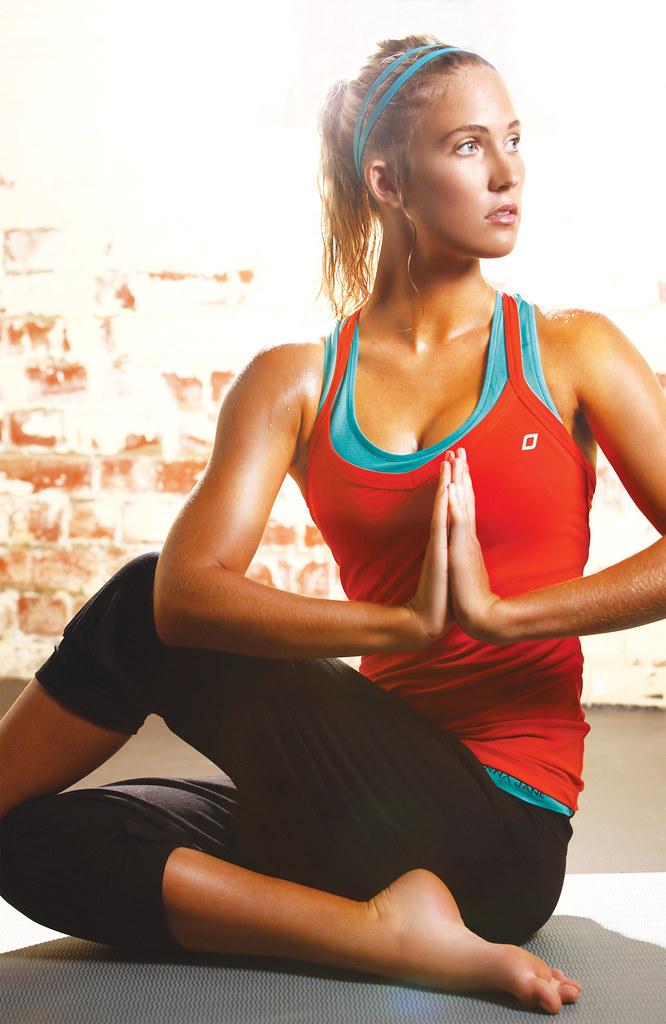 Lorna Jane Yoga Seamless Support Singlet Dion