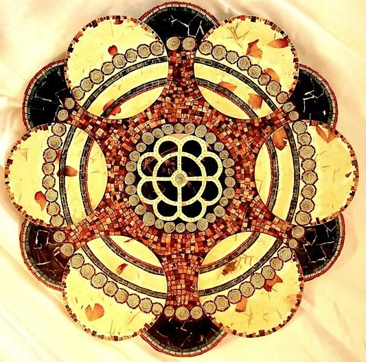 es ist ein ros mandala by deborah norsworthy mosaic pap flickr. Black Bedroom Furniture Sets. Home Design Ideas