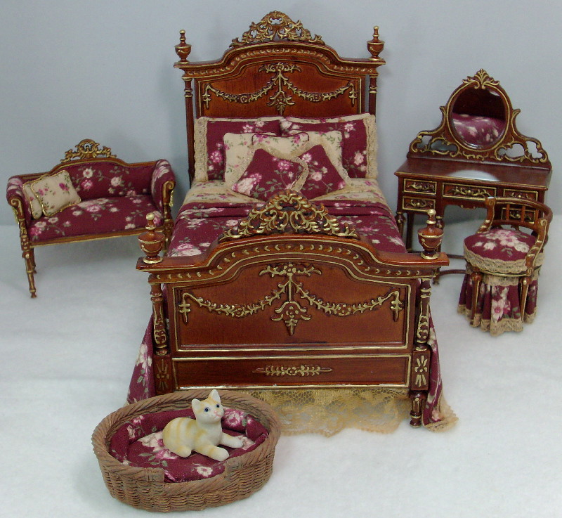victorian bedroom set dollhouse miniatures by debs minis