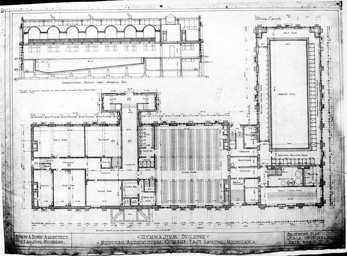 Floor Plans For The Im Sports Circle Building 1915 Flickr