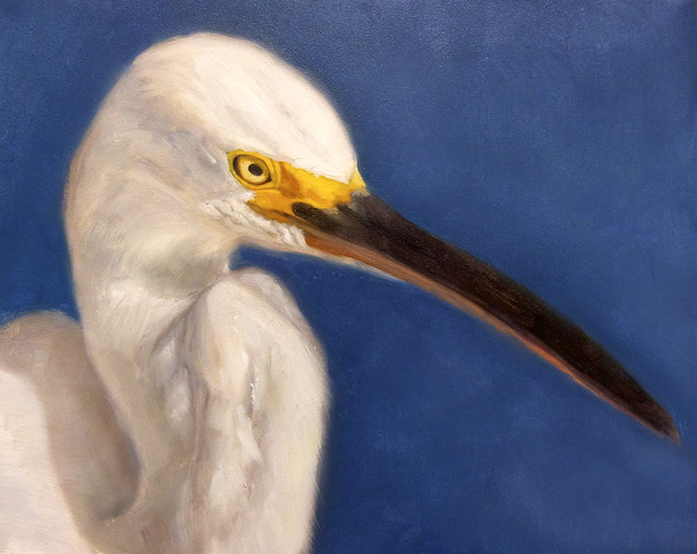 White heron oil painting 2010 flickr photo sharing for White heron paint