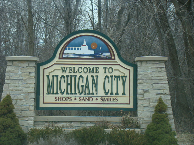 City or town sign michigan city indiana michigan city flickr for Olive garden michigan city indiana