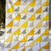 Completed Yellow and Grey Lady of the Lake Quilt