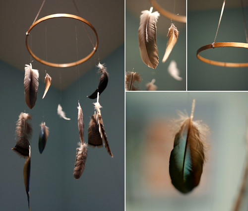 floating feather mobile | by Sophie Peoples