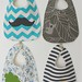 quartet of boy bibs