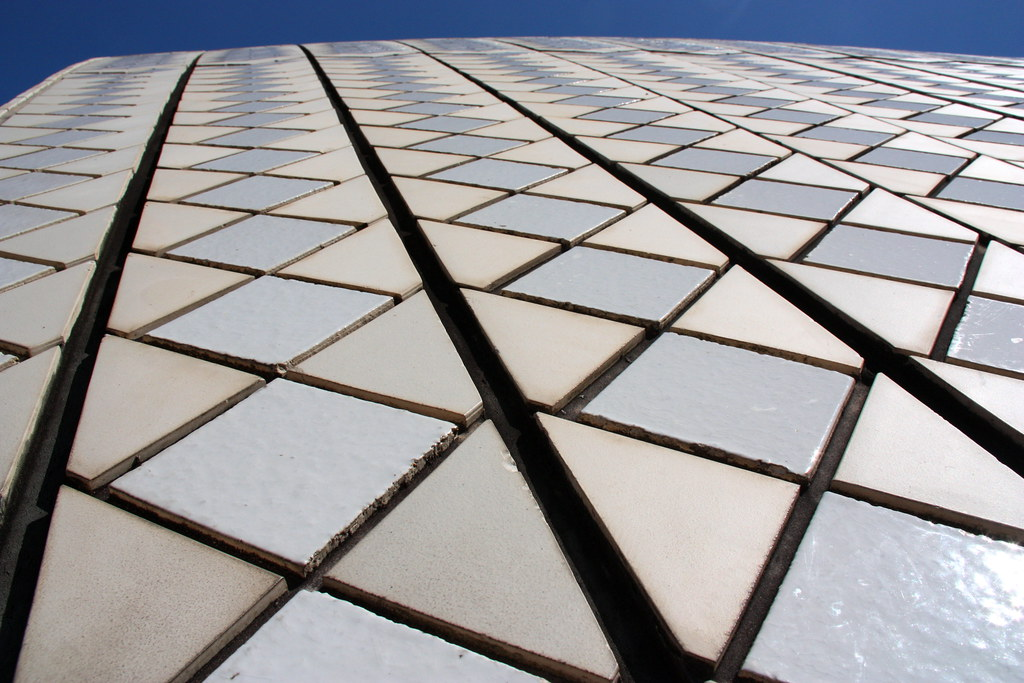 Sydney Opera House Roof Closeup Of Roof Tiles On The