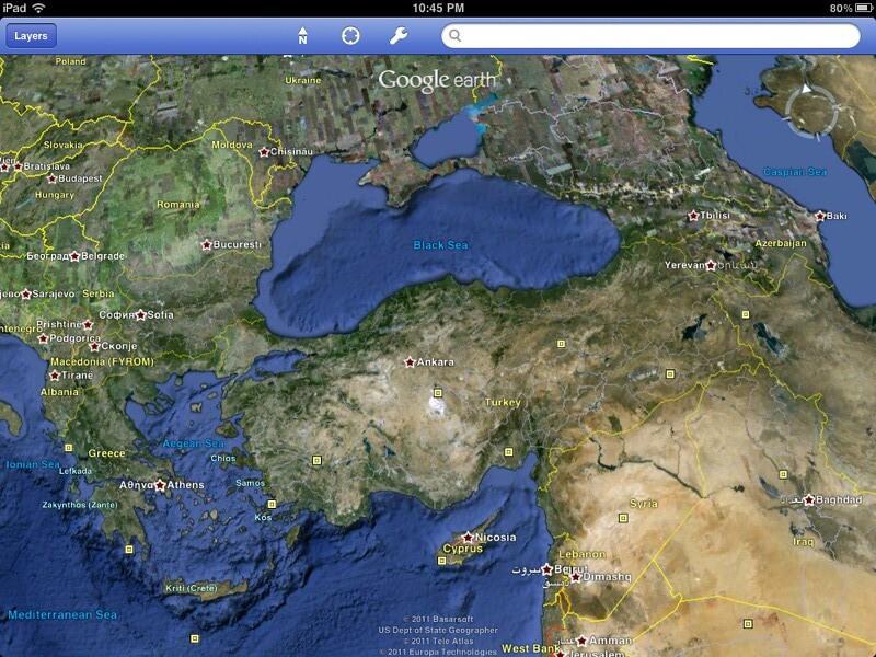 ipad google earth turkey