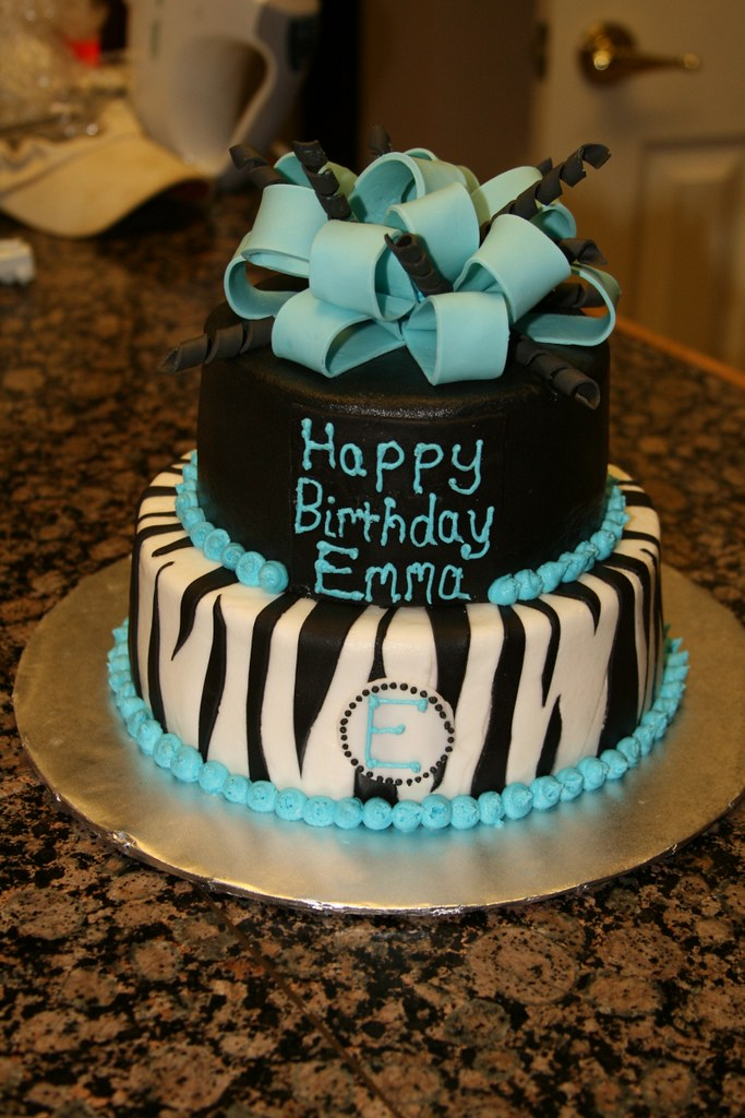 blue birthday cake blue and black zebra birthday cake april wallace cakes 1922