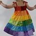 Rainbow Toddler Dress Back