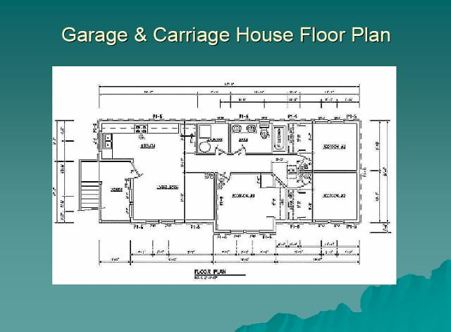 Garage carriage house floor plan garage carriage for Carriage house flooring