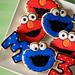Cookie Monster & Elmo Birthday Cookies