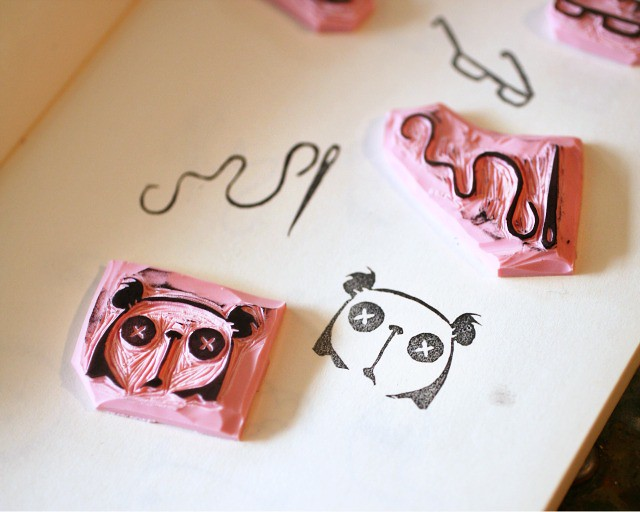 Rubber stamp carving tutorial after getting a