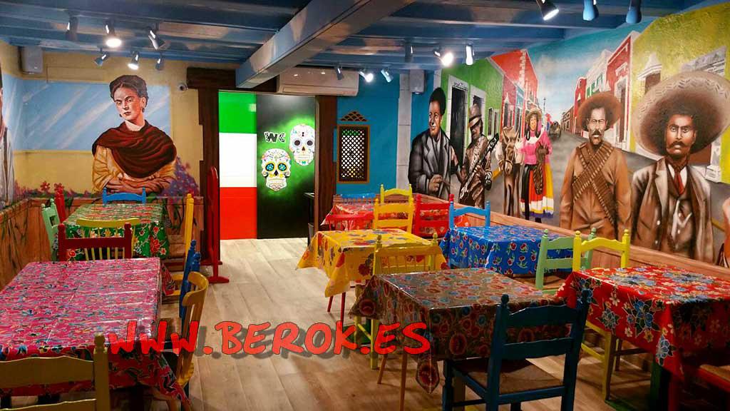decoracion restaurante mexicano decoraci n graffiti On decoracion mexicana para restaurantes