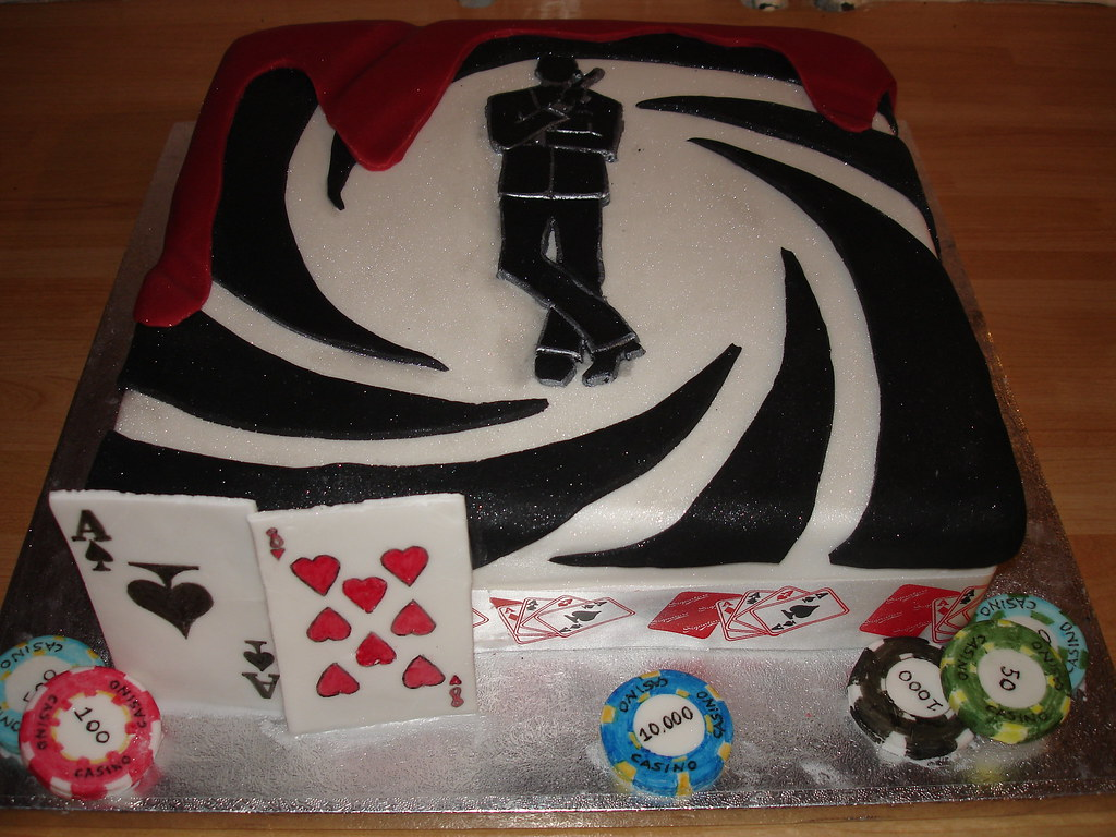 Casino Royale Birthday Cake