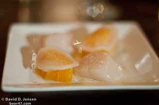 Scallop, ale carbonated citrus, turnip | by jessefriedman